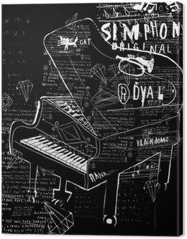 Canvastavla Pianino