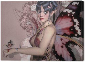 Canvastavla Pink fairy