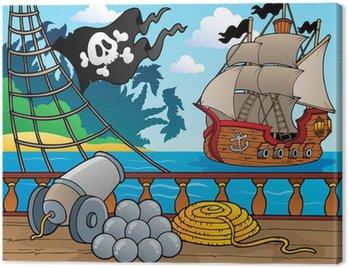 Canvastavla Piratskepp däck tema 4
