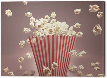 Canvastavla Popcorn Flying