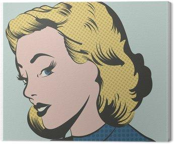 Canvastavla Popkonst Kvinna vektor illustration