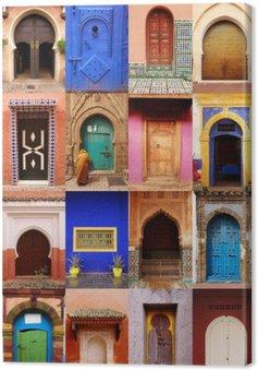 Canvastavla Portes du Maroc