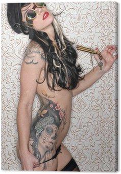 Canvastavla Punk tatuering