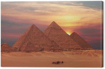 Canvastavla Pyramid solnedgång