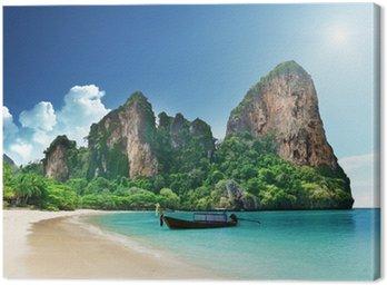 Canvastavla Railay Beach i Krabi Thailand
