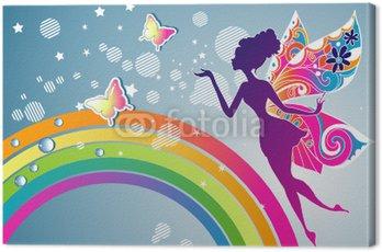 Canvastavla Rainbow Fairy grafisk