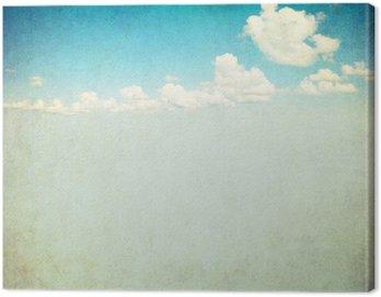 Canvastavla Retro avbildar av molnig himmel