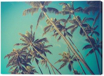 Canvastavla Retro Diagonal palmer i Hawaii