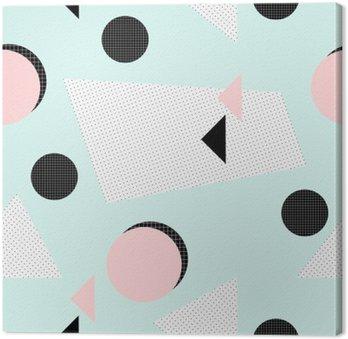 Canvastavla Retro geometriskt mönster