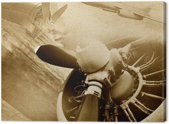 Canvastavla Retro luftfart, vintage bakgrund