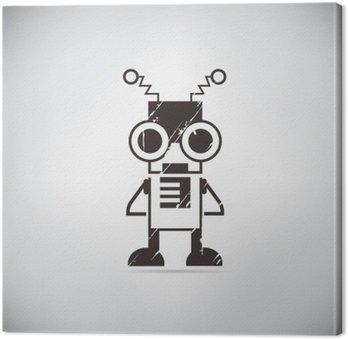 Canvastavla Retro robot tecknad