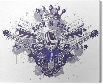 Canvastavla Rock n roll symbol 5