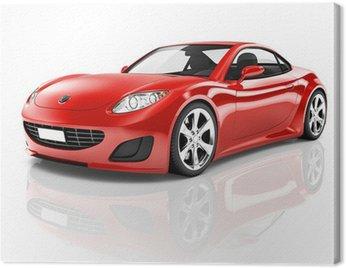 Canvastavla Röd 3D Sport bil