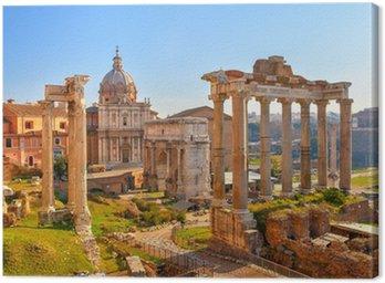 Canvastavla Romerska ruiner i Rom, Forum
