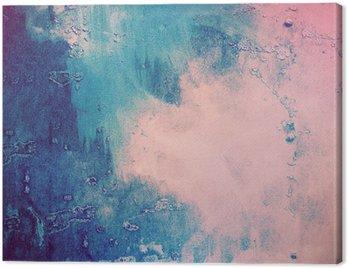 Canvastavla Rosa och blå abstrakt bakgrund