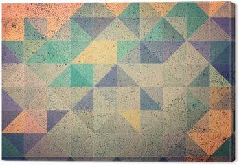 Canvastavla Rosa och lila triangel abstrakt bakgrund illustration