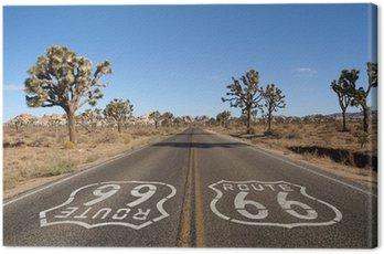 Canvastavla Route 66 Desert