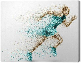 Canvastavla Running Man