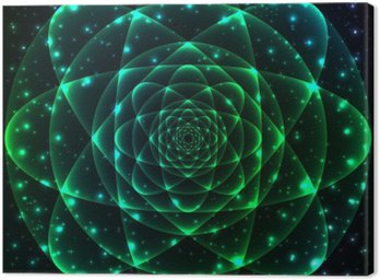 Canvastavla Sakral geometri symbol. Mandala mystery elementet