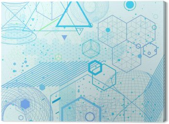 Canvastavla Sakral geometri symboler och element bakgrund