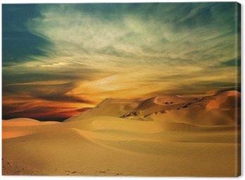 Canvastavla Sandöken i solnedgång