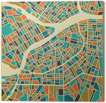 Canvastavla Sankt Petersburg vektorkarta. Färgtappningdesign bas för resekort, annonsering, gåva eller affisch.