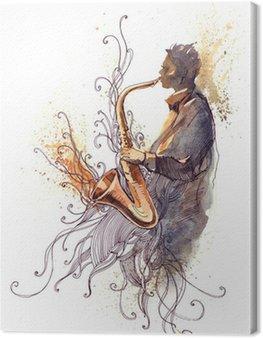 Canvastavla Sax (CBM målning)