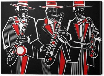 Canvastavla Saxofonister