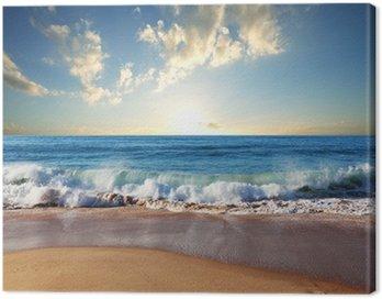 Canvastavla Sea solnedgång