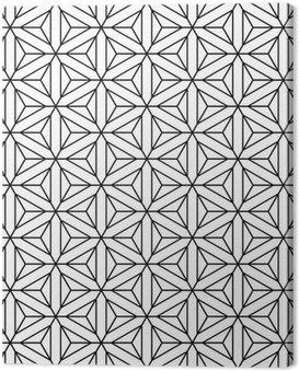 Canvastavla Seamless geometrisk op konst konsistens.
