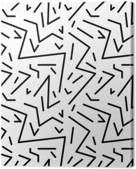 Canvastavla Seamless geometrisk tappning mönstrar i retro 80s stil, Memphis. Idealisk för tyg design, papper tryck och webbplats bakgrund. EPS10 vektorfil