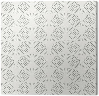 Canvastavla Seamless mönster. Handritad. Blomma. bakgrund design