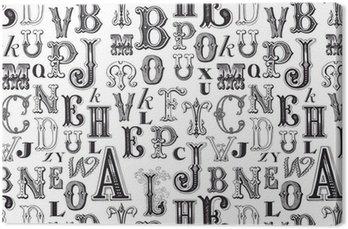 Canvastavla Seamless mönster - mönster som ingår i rutan rutor