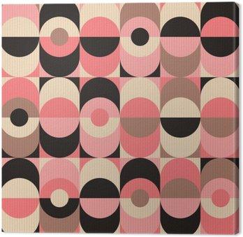 Canvastavla Seamless tappning geometriskt mönster