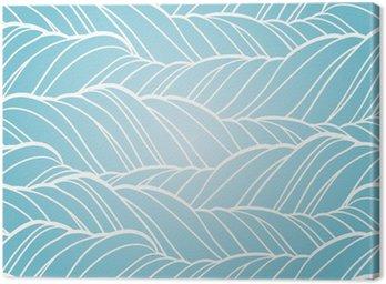 Canvastavla Seamless våg abstrakt hand plockade mönster.