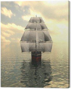 Canvastavla Segelfartyg