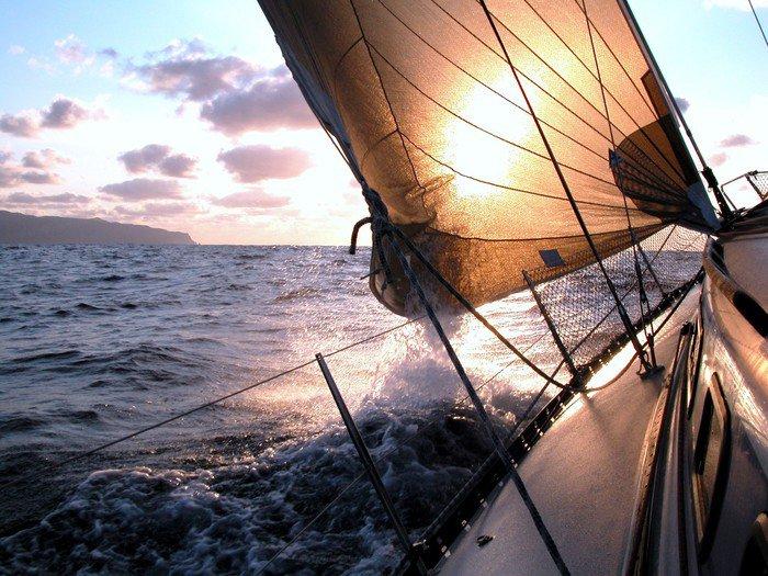Canvastavla Segling till soluppgången - iStaging