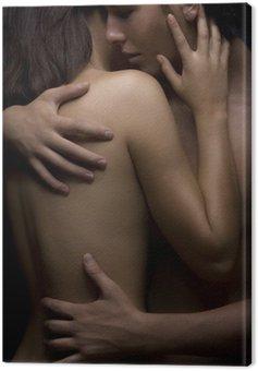 Canvastavla Sexig passionen mellan kvinna och man