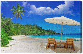 Canvastavla Seychellerna - tropisk paradis