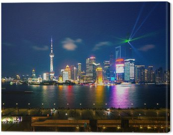 Canvastavla Shanghai - Pudong Skyline