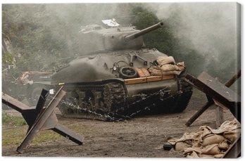 Canvastavla Sherman tankar - WW II