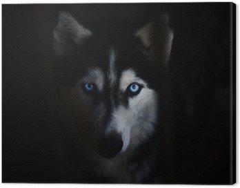 Canvastavla Siberian husky