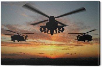 Canvastavla Silhuett av helikopter