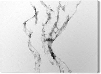 Canvastavla Siluett av vacker naken kvinna vektor