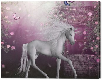 Canvastavla Sista enhörningen