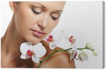 Canvastavla Skin behandling för skönhet vuxen kvinna