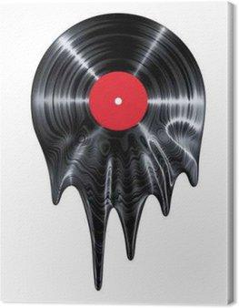 Canvastavla Smält vinyl / 3d framför vinyl smältning