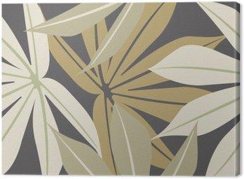 Canvastavla Snygg seamless med tropiska blad