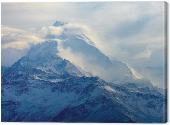 Canvastavla Soluppgång i bergen