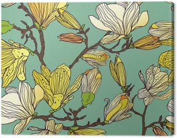 Canvastavla Sömlös blommig textur